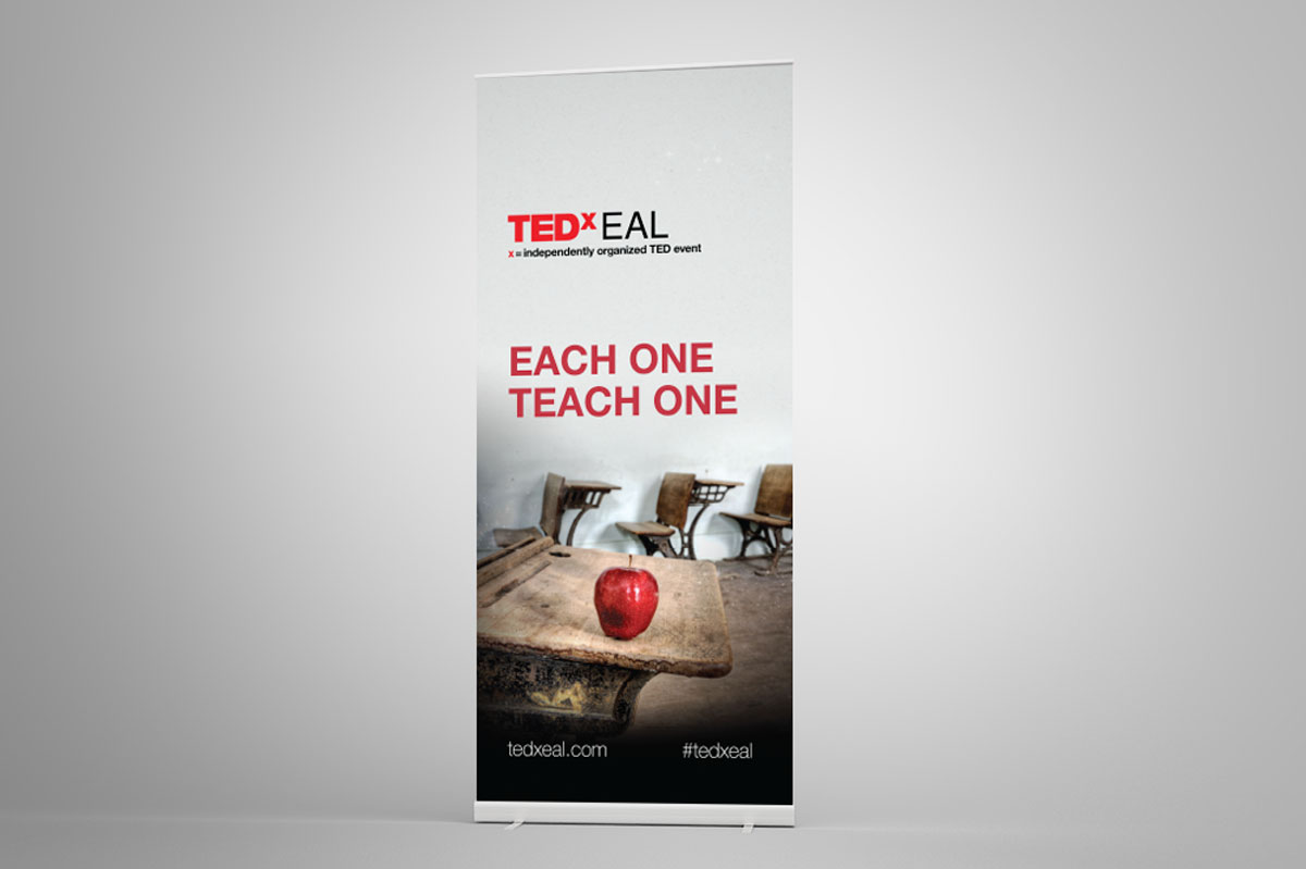 TEDxEAL roll-up banner